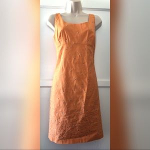 J. Crew orange embroidered dress